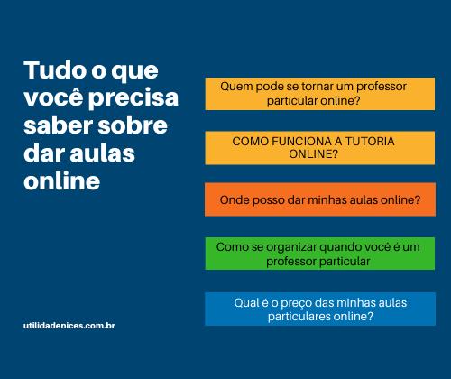 dar aulas online